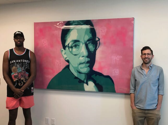 Alex Zalkin with RBG
