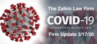 Zalkin Law Firm COVID 19 Update Poster